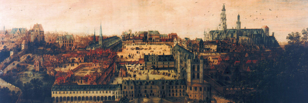 Il palazzo del Coudenberg, sede della corte di Carlo V a Brussel.