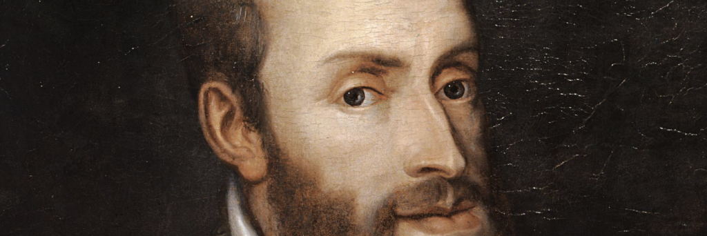 Ritratto di Carlo V di Tiziano (particolare).