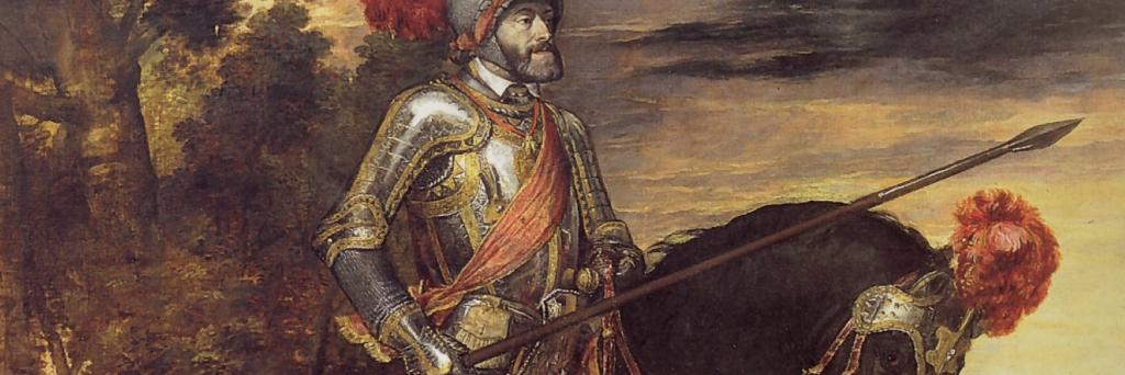 Ritratto di Carlo V a cavallo di Tiziano (particolare).
