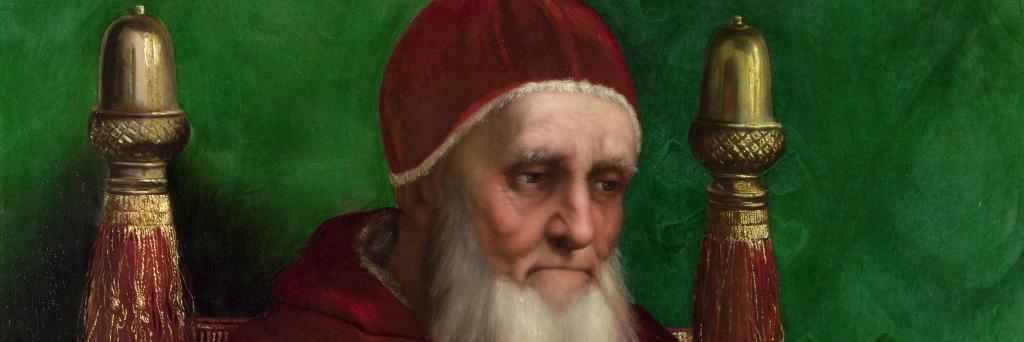 Giuliano della Rovere, papa Giulio II, in un celebre ritratto di Raffaello. Ebbe stretti legami con la famiglia de' Cuppis. Sua figlia Felice della rovere fu allevata da Bernardino de' Cuppis e fu influente sorellastra di Giovanni Domenico de' Cuppis.